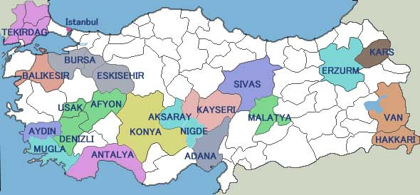 map Turkey
